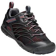 Keen Chandler CNX Youth raven/fiery red - Trekingové topánky
