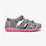 Keen Seacamp II CNX JR. steel grey/rapture Rose - Sandále