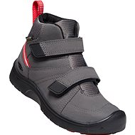 Keen Hikeport Mid Strap WP Y magnet/red carpet EU 37/232 mm - Trekingové topánky