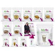 KetoMix Ketonová dieta na 3 týdny - 9 ks + 3 příchutě, 3985 g - Sada