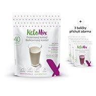 KetoMix Koktail 40 porcií + 3 príchute, 1335 g - Proteín