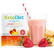 KetoDiet Protein Drink - Strawberry and Banana (7 Servings) - Long Shelf Life Food