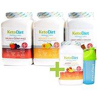 KetoDiet Proteínové nápoje na 3 + 1 týždeň ZDARMA (140 porcií) - Sada