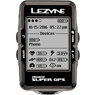 Lezyne Super GPS HRSC Loaded Black - GPS cyklocomputer