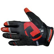 Haven Singletrail Dlhé čierne / červené - Cyklistické rukavice