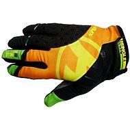 Haven Singletrail Dlhé čierne / oranžové - Cyklistické rukavice