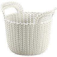 Curver Knit košík guľatý 3 l krémový - Úložný box