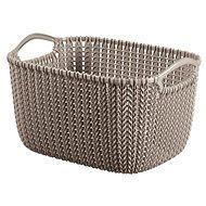 Curver Knit košík guľatý 8 l hnedý - Úložný box