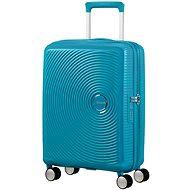 American Tourister Soundbox Spinner 55 Exp Summer Blue - Cestovný kufor s TSA zámkom