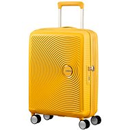 American Tourister Soundbox Spinner 55 Exp Golden Yellow - Cestovný kufor s TSA zámkom