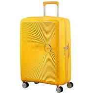 American Tourister Soundbox Spinner 67 Exp Golden Yellow - Cestovný kufor s TSA zámkom
