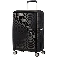 American Tourister Soundbox Spinner 67 Exp Bass Black - Cestovný kufor s TSA zámkom