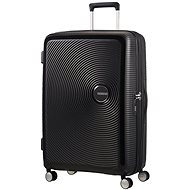 American Tourister Soundbox Spinner 77 Exp Bass Black - Cestovný kufor s TSA zámkom
