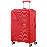 American Tourister Soundbox Spinner 67 Exp Coral Red - Cestovný kufor s TSA zámkom