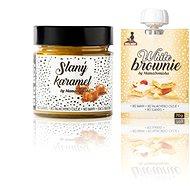 BIG BOY Slaný karamel 250 g + White Brownie cestovné balenie 70 g - Orechový krém