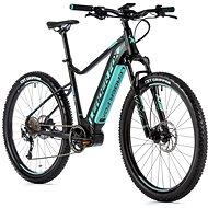 "Leader Fox Awalon 27,5"", čierna mat/svetlo zelená - Horský elektrobicykel 27,5"""