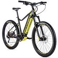 """Leader Fox Kent 27,5"""" čierna matná/žltá - Horský elektrobicykel 27,5"""""""