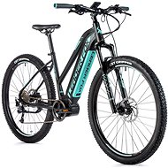 "Leader Fox Awalon 29"", čierna matná/svetlo zelená - Horský elektrobicykel 29"""