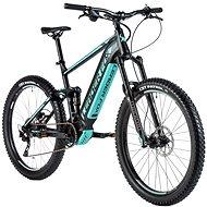 """Leader Fox Acron 27,5"""" čierna mat/svetlo zelená - Horský elektrobicykel 27,5"""""""