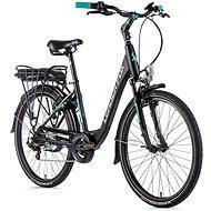 "Leader Fox Latona 26"" čierna matná/svetlo zelená 16,5"" veľ. S - Elektrobicykel"