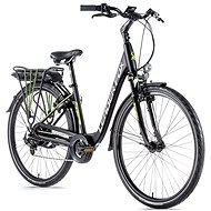 "Leader Fox Park City 28"" čierna matná/zelená 16,5"" - Mestský elektrobicykel"