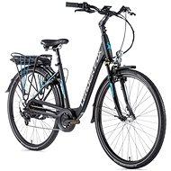 """Leader Fox Park City 28"""" čierna matná/modrá - Elektrobicykel"""