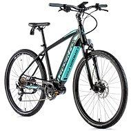 "Leader Fox Exeter čierna matná/svetlo zelená 17,5"" - Krosový elektrobicykel"