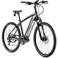 """Leader Fox Exeter čierna matná/biela 17,5"""" - Krosový elektrobicykel"""