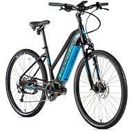 """Leader Fox Exeter dámsky čierna matná/modrá 16,5"""" - Krosový elektrobicykel"""