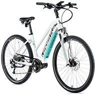 """Leader Fox Exeter dámsky biela matná/svetlo zelená 16,5"""" - Krosový elektrobicykel"""
