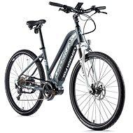 """Leader Fox Exeter dámsky sivá matná/biela 16,5"""" - Krosový elektrobicykel"""