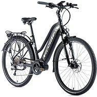 """Leader Fox Lucas 28"""" dámsky čierna mat/sivá 16,5"""" - Trekingový elektrobicykel"""
