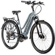 """Leader Fox Lucas 28"""" dámsky sivá mat/biela 16,5"""" - Trekingový elektrobicykel"""
