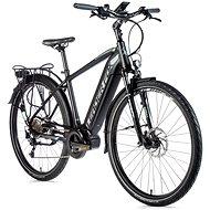 """Leader Fox Lucas 28"""" pánsky čierna mat/sivá 17,5"""" - Trekingový elektrobicykel"""