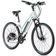 """Leaderfox Venosa 28"""" biela mat/svetlo zelená 16,5"""" - Krosový elektrobicykel"""