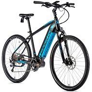 "Leader Fox Bend 28"" čierna mat/modrá - Krosový elektrobicykel"