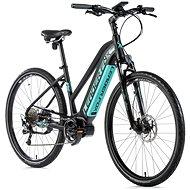 "Leader Fox Bend 28"" čierna mat/svetlo zelená - Krosový elektrobicykel"