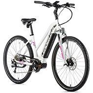 "Leader Fox Bend 28"" biela mat/ružová - Krosový elektrobicykel"