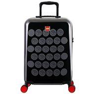 LEGO Luggage ColourBox Brick Dots 20 – Čierny/Sivý