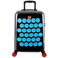 LEGO Luggage ColourBox Brick Dots 20 – Čierny/Modrý