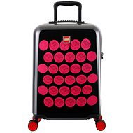 LEGO Luggage ColourBox Brick Dots 20 – Čierny/Ružový