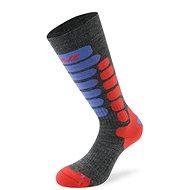 Lenz skiing kids 2.0 sv.šedá/červená/modrá 10 vel.35-37 - Detské lyžiarske ponožky