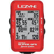 Lezyne Super GPS Special Edition – Red - Cyklocomputer