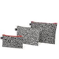 LOQI Keith Haring Zip Pockets - Cestovná kozmetická súprava