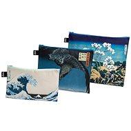 LOQI Hokusai, Hiroshige Zip Pockets - Cestovná kozmetická súprava