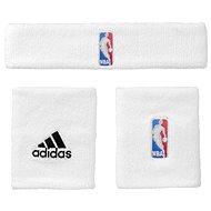 Adidas NBA Wristband prus Headband White Men - Súprava
