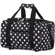 CITIES 611 – čierna/biela - Cestovná taška