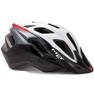 MET FUNANDGO biela/čierna/červená lesklá S/M - Prilba na bicykel