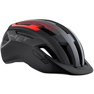 MET ALLROAD čierna/červená matná L - Prilba na bicykel