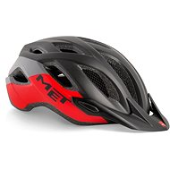 MET CROSSOVER čierna/červená matná - Prilba na bicykel
